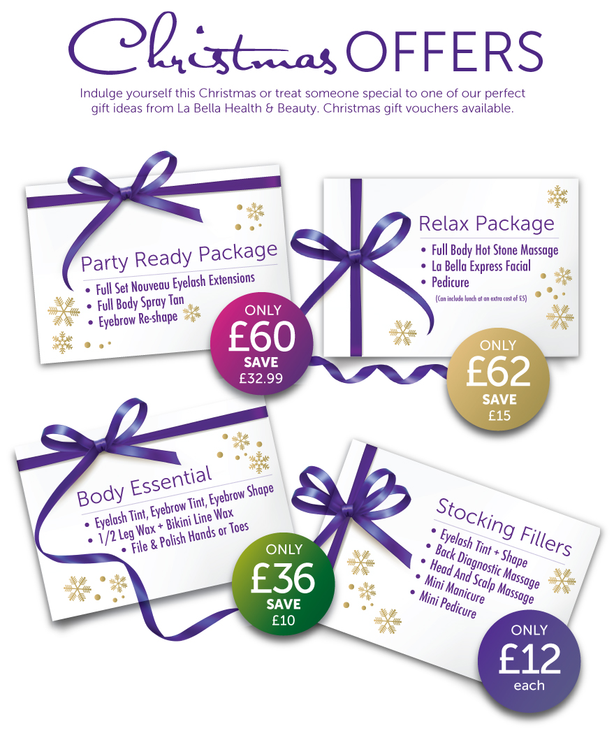 La bella christmas offers for Beauty salon xmas offers